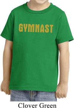 Kids Gymnastics Shirt Gold Shimmer Gymnast Toddler Tee T-Shirt