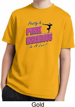 Kids Gymnastics Shirt Pretty in Pink Moisture Wicking Tee T-Shirt
