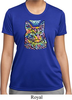 Ladies Cat Shirt Love Cat Moisture Wicking T-shirt