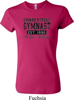 Ladies Gymnastics Shirt Competitive Gymnast Crewneck Tee T-Shirt