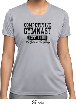 Ladies Gymnastics Shirt Competitive Gymnast Moisture Wicking T-Shirt