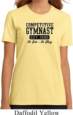 Ladies Gymnastics Shirt Competitive Gymnast Organic Tee T-Shirt