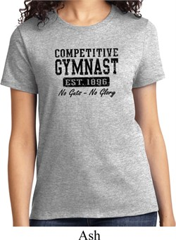 Ladies Gymnastics Shirt Competitive Gymnast Tee T-Shirt