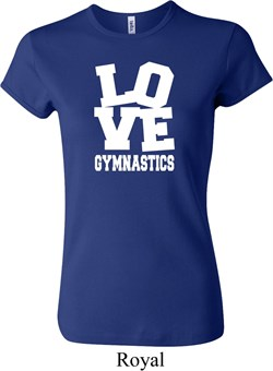 Ladies Gymnastics Shirt Love Gymnastics Crewneck Tee T-Shirt