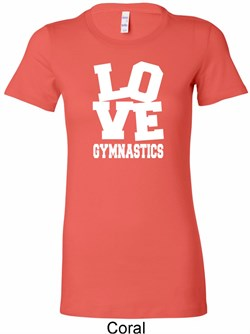 Ladies Gymnastics Shirt Love Gymnastics Longer Length Tee T-Shirt