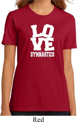 Ladies Gymnastics Shirt Love Gymnastics Organic Tee T-Shirt