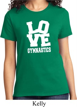 Ladies Gymnastics Shirt Love Gymnastics Tee T-Shirt