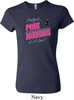 Ladies Gymnastics Shirt Pretty in Pink Crewneck Tee T-Shirt