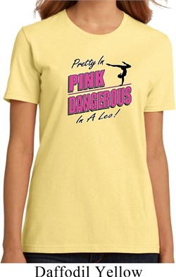 Ladies Gymnastics Shirt Pretty in Pink Organic Tee T-Shirt