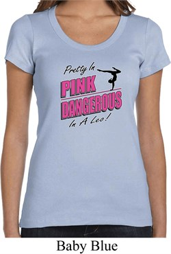 Ladies Gymnastics Shirt Pretty in Pink Scoop Neck Tee T-Shirt