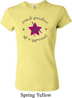 Ladies Gymnastics Shirt Proud Grandma Crewneck Tee T-Shirt