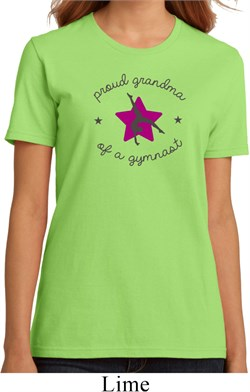 Ladies Gymnastics Shirt Proud Grandma Organic Tee T-Shirt