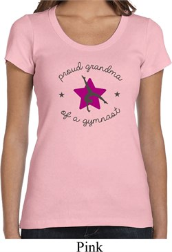 Ladies Gymnastics Shirt Proud Grandma Scoop Neck Tee T-Shirt