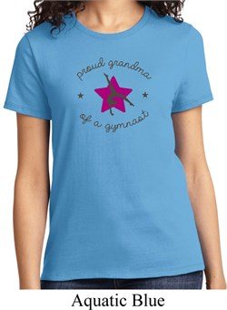 Ladies Gymnastics Shirt Proud Grandma Tee T-Shirt