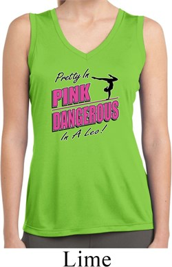 Ladies Shirt Pretty in Pink Sleeveless Moisture Wicking Tee T-Shirt