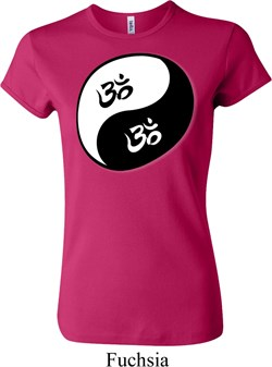 ladies yoga shirt yin yang aum crewneck tee t-shirt