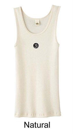 Ladies Yoga Tank  Aum Patch Meditation Organic Tanktop