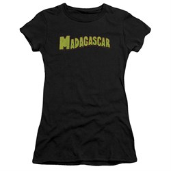Madagascar Juniors Shirt Logo Black T-Shirt
