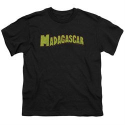 Madagascar Kids Shirt Logo Black T-Shirt