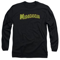 Madagascar Long Sleeve Shirt Logo Black Tee T-Shirt