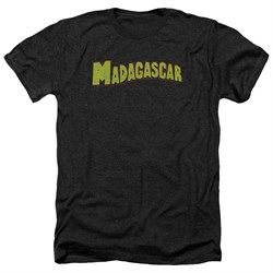 Madagascar Shirt Logo Heather Black T-Shirt