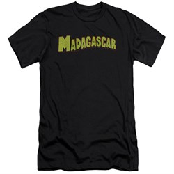 Madagascar Slim Fit Shirt Logo Black T-Shirt