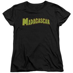 Madagascar Womens Shirt Logo Black T-Shirt