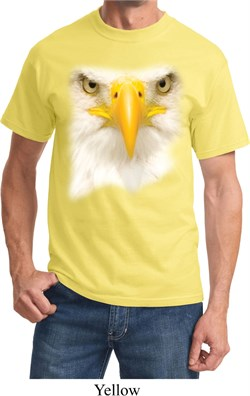 Mens Bald Eagle Shirt Big Bald Eagle Face Tee T-Shirt