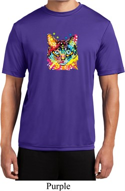Mens Cat Shirt Blue Eyes Cat Moisture Wicking Tee T-Shirt
