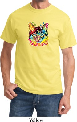 Mens Cat Shirt Blue Eyes Cat Tee T-Shirt