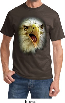 Mens Eagle Shirt Big Eagle Face Tee T-Shirt