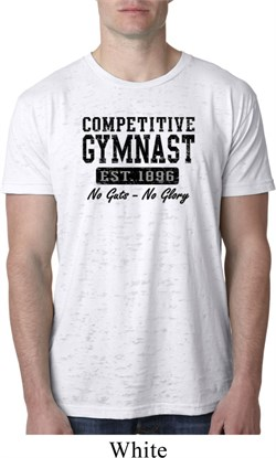 Mens Gymnastics Shirt Competitive Gymnast Burnout Tee T-Shirt