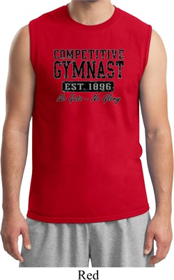 Mens Gymnastics Shirt Competitive Gymnast Muscle Tee T-Shirt