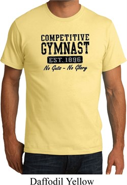 Mens Gymnastics Shirt Competitive Gymnast Organic Tee T-Shirt
