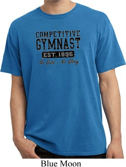 Mens Gymnastics Shirt Competitive Gymnast Pigment Dyed Tee T-Shirt