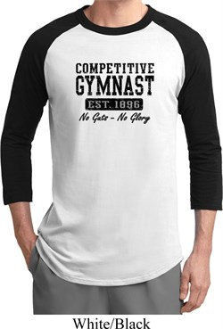Mens Gymnastics Shirt Competitive Gymnast Raglan Tee T-Shirt