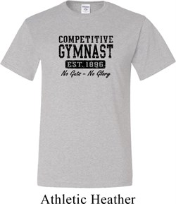 Mens Gymnastics Shirt Competitive Gymnast Tall Tee T-Shirt