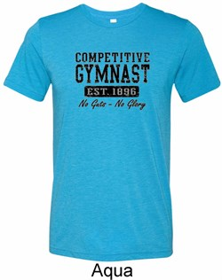 Mens Gymnastics Shirt Competitive Gymnast Tri Blend Crewneck T-Shirt
