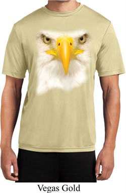 Mens Shirt Big Bald Eagle Face Moisture Wicking Tee T-Shirt