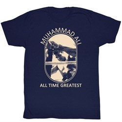 Muhammad Ali Shirt Picture Perfect Adult Navy Tee T-Shirt