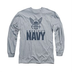Navy Shirt America's Navy Long Sleeve Athletic Heather Tee T-Shirt