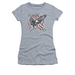 Navy Shirt Juniors Navy Eagle Trident Athletic Heather T-Shirt