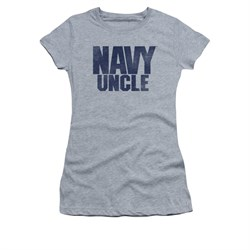 Navy Shirt Juniors Navy Uncle Athletic Heather T-Shirt