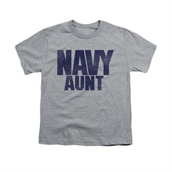 Navy Shirt Kids Navy Aunt Athletic Heather T-Shirt
