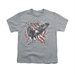 Navy Shirt Kids Navy Eagle Trident Athletic Heather T-Shirt