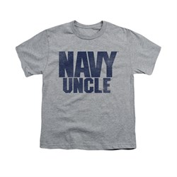 Navy Shirt Kids Navy Uncle Athletic Heather T-Shirt
