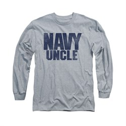 Navy Shirt Navy Uncle Long Sleeve Athletic Heather Tee T-Shirt