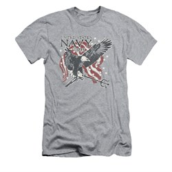 Navy Shirt Slim Fit Navy Eagle Trident Athletic Heather T-Shirt