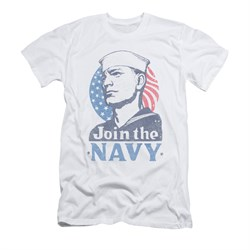 Navy Shirt Slim Fit Navy Join The Navy White T-Shirt