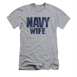 Navy Shirt Slim Fit Navy Wife Athletic Heather T-Shirt